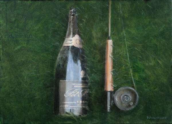 Bottle and Rod II, 2012 (acrylic on canvas)