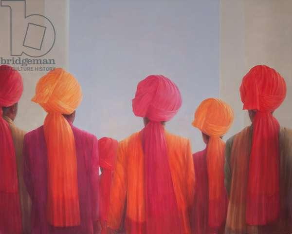 Turban Group, 2012 (acrylic on canvas)
