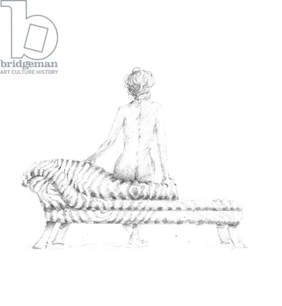 Seated Nude (pencil on paper)
