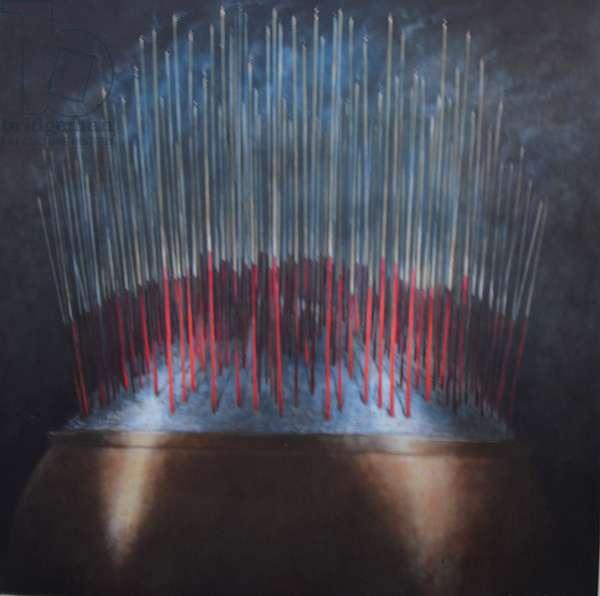 Incense Sticks in Bronze Bowl
