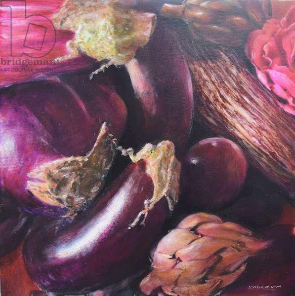 Still life, aubergine