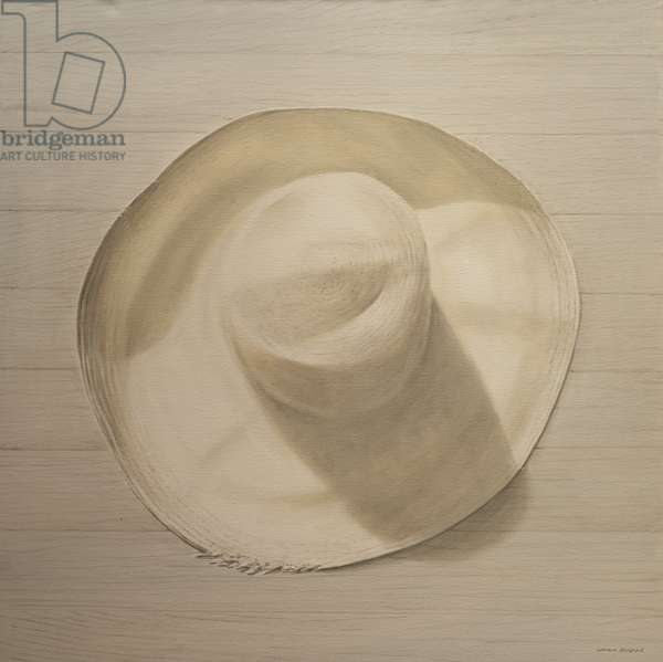 Travelling Hat on Dusty Table, 2010 (acrylic on canvas)