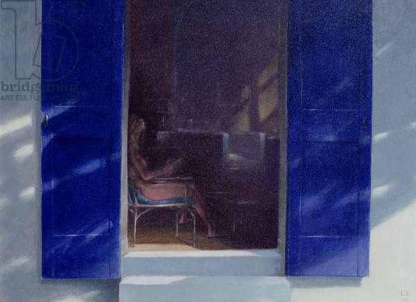 Blue Shutters, 1985 (oil on board)