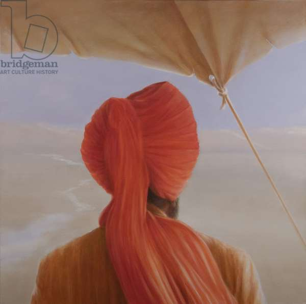Turbaned backview with tenting