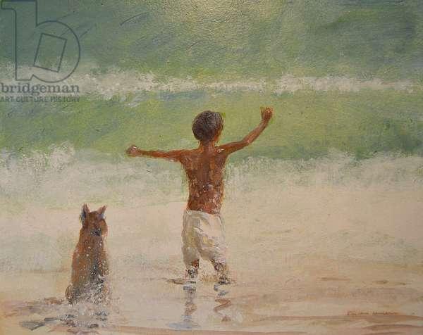Boy and Lifeguard (Dog)