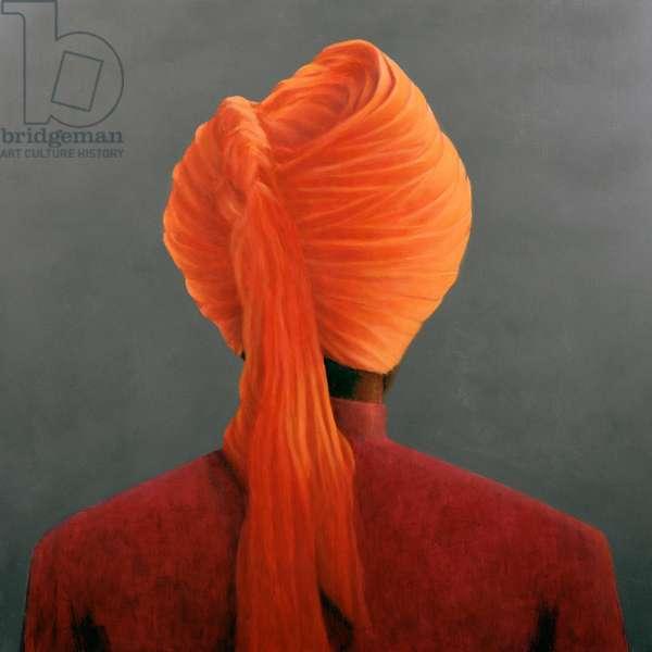 Orange Turban (oil on canvas)
