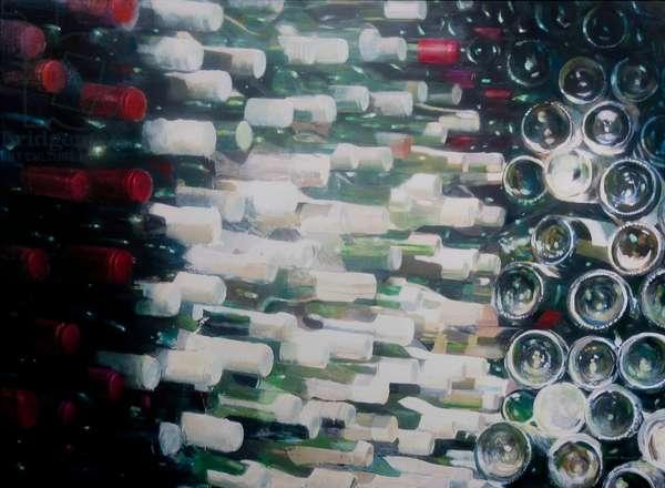 Wine Cellar, 2012 (acrylic on canvas)