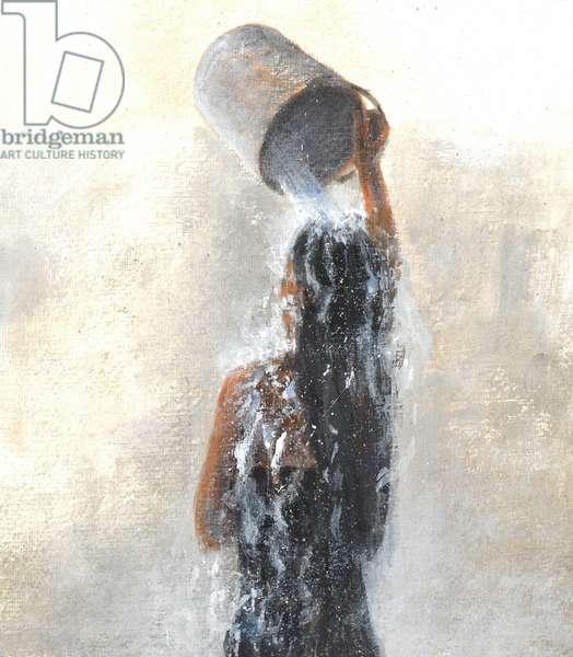 Girl Showering, 2015 (w/c on paper)