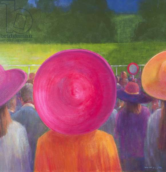 Finishing Post, Hats, 2014 (oil on canvas)