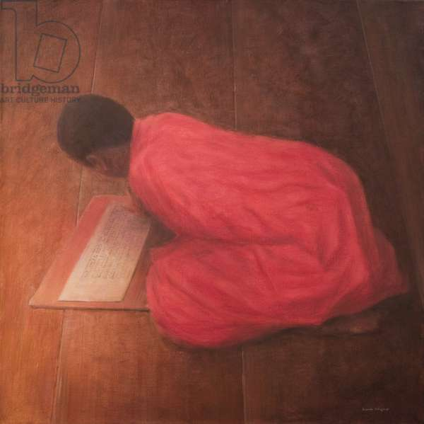 Young Monk in Class