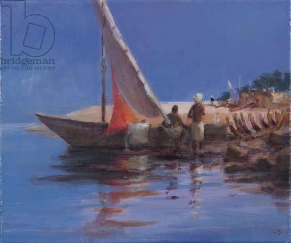 Boat Yard, Kilifi, 2012 (acrylic on canvas)
