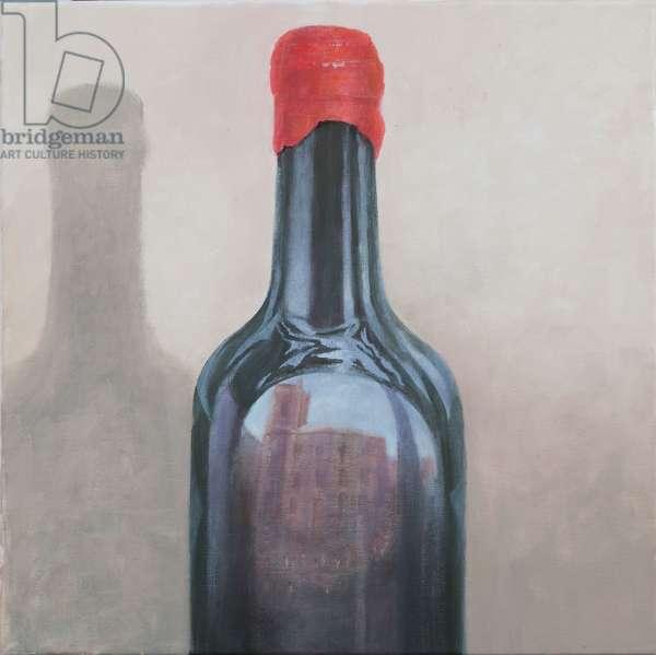 Pienza reflection, 2012 (acrylic on canvas)