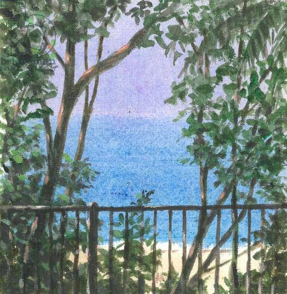 Balcony View, 2015 (w/c on paper)