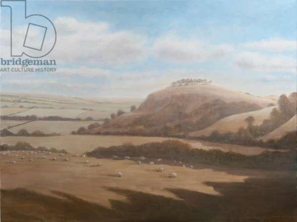 Gloucestershire landscape, 2012 (acrylic on canvas)