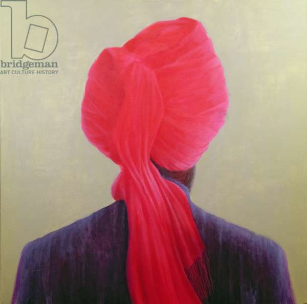 Red Turban, Purple Jacket (oil on canvas)