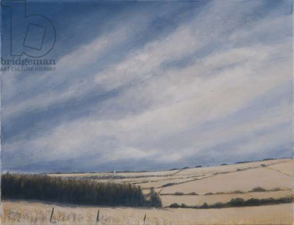 Approaching Burford, 2012 (acrylic on canvas)