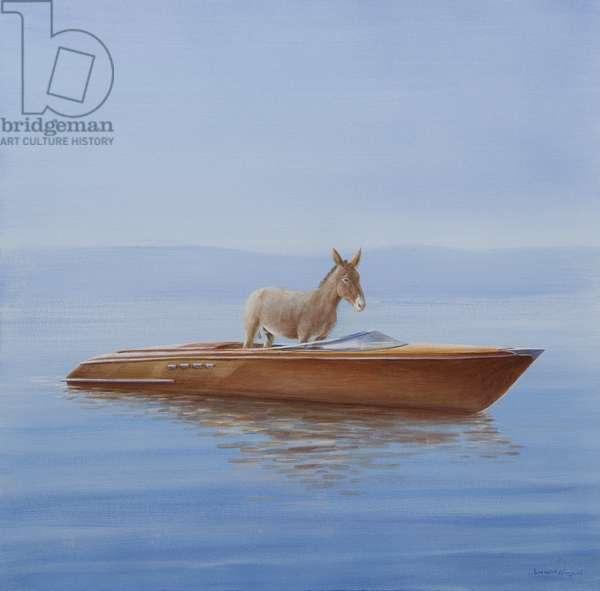 Donkey in a Riva, 2010 (acrylic on canvas)