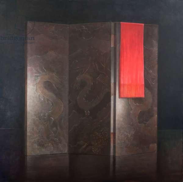 Dragon Screen, 2012 (acrylic on canvas)