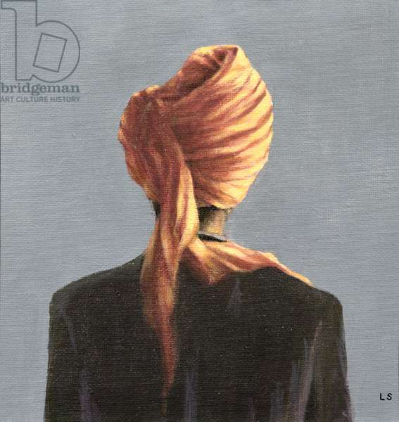 Orange turban, 2004 (acrylic on canvas)