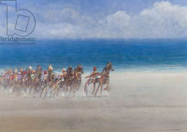 Trotting Races, Lancieux, Brittany, 2014 (oil on canvas)