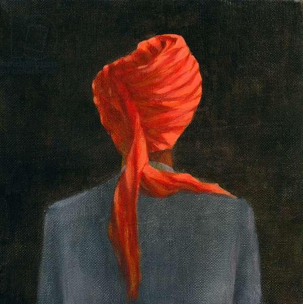 Red turban, 2004 (acrylic on canvas)