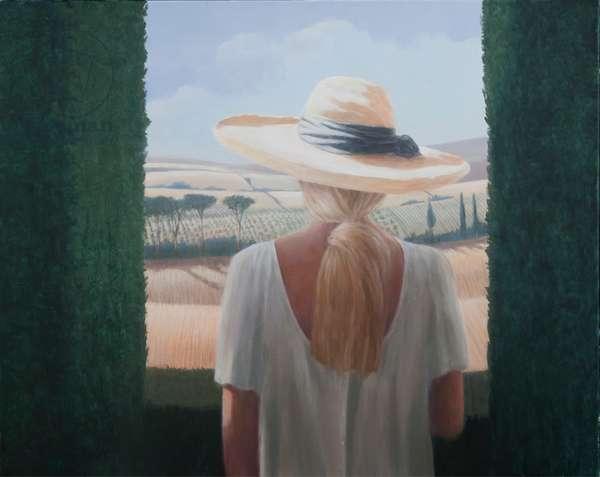Girl, back view, Tuscany, 2012 (acrylic on canvas)