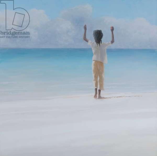 Rasta on beach, 2012 (acrylic on canvas)