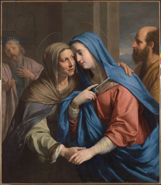 The Visitation, c.1643 (oil on canvas)
