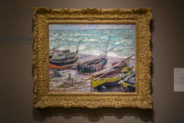 Fishing Boats at Étretat, 1885 (oil on canvas)