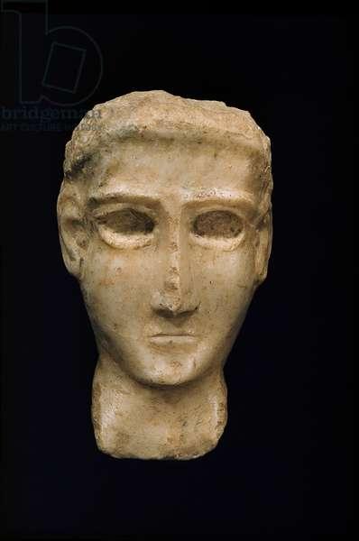 Funerary head, 3rd-1st century B.C. (Alabaster)