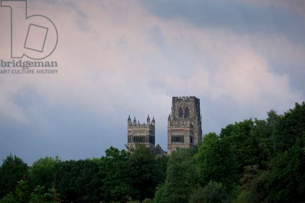 Durham Cathedral, the towers from west, Durham, England, UK  (photo)