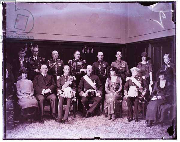 Duke of Abercorn opening Irish Parliament 6th March 1923 (b/w photo)