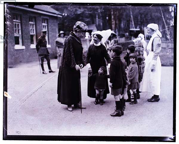 King George V and Queen Mary visit to Aldershot, May 1923 (b/w photo)