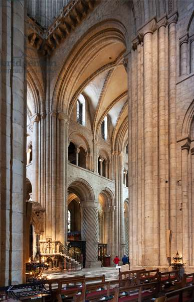 S Transept from the Nave, Durham Cathedral, Durham, UK (photo)