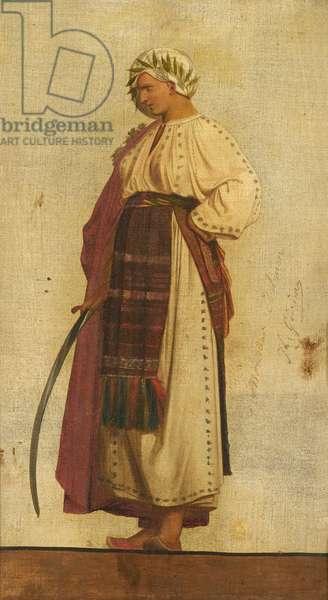 Character symbolising Turkey (oil on canvas)