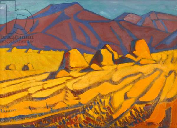 Golden Harvest, 1979 (oil on canvas)