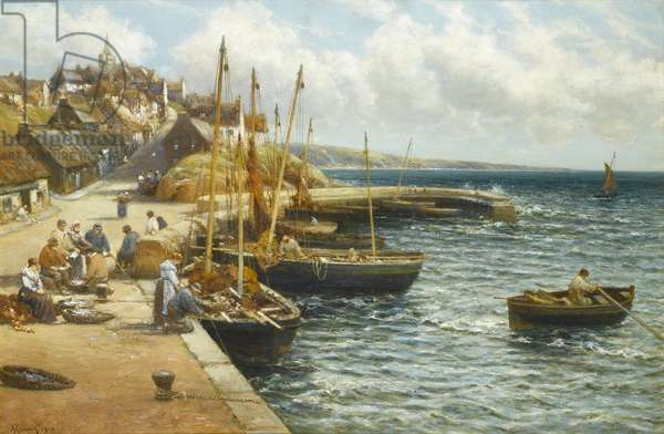 Pittenweem from the Harbour, 1910 (oil on canvas)