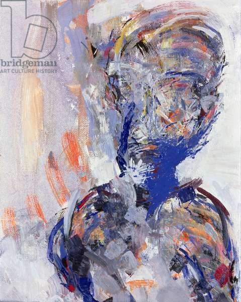 David Bowie, right hand panel of Diptych, 2000 (oil on canvas) (see 181145)