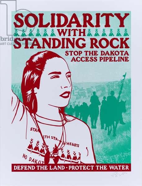 Solidarity with Standing Rock, 2016 (screenprint)