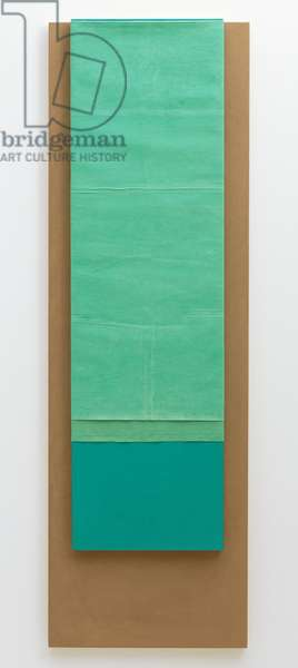 Untitled, 2017 (adobe, oil, pigment, linen, jute on wood)