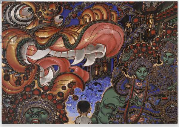 Chinese New Year's Parade, 1992-1994 (oil on linen)