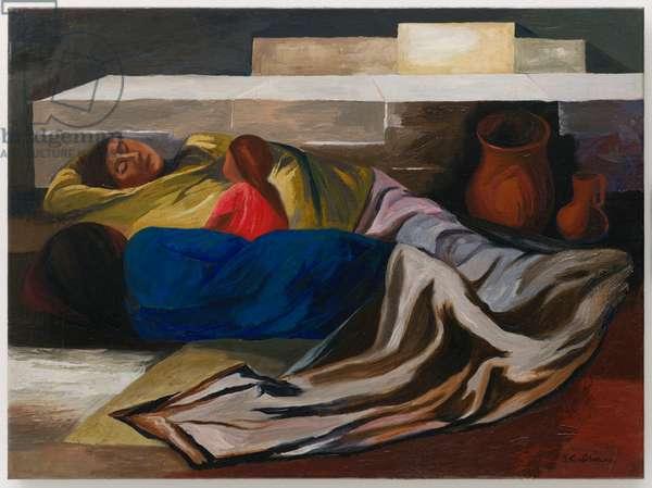 Sleeping (The Family), 1930 (oil on canvas)