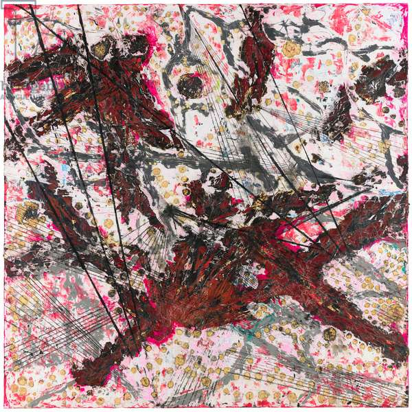 Killing the Goodbye, 2015 (mixed media on canvas)