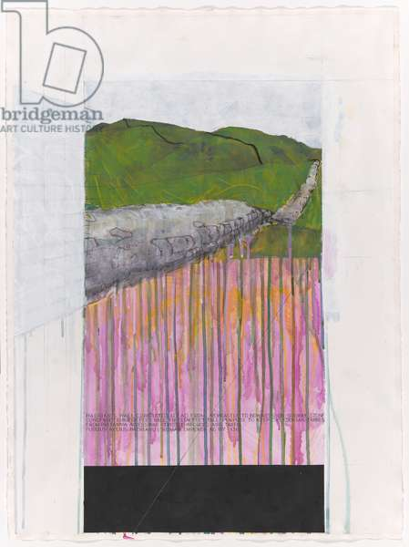 Hadrian's Wall, n.d. (mixed media on paper)