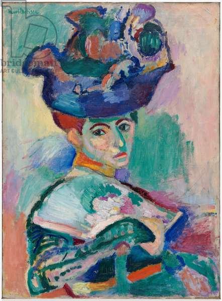 Femme au chapeau (Woman with a Hat), 1905 (oil on canvas)