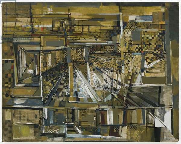 Le promeneur invisible (The Invisible Stroller), 1951 (oil on canvas)