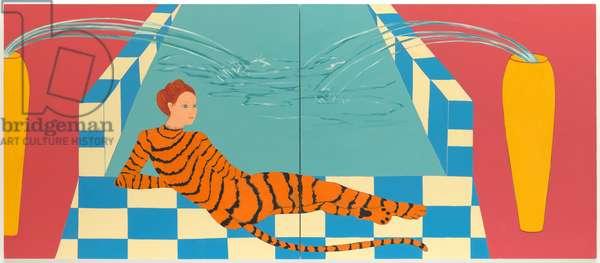 Bather #5, 1982 (enamel on canvas)