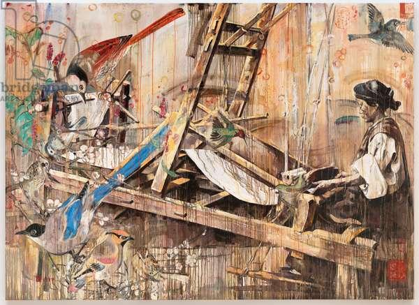 Loom, 1999 (oil on canvas)
