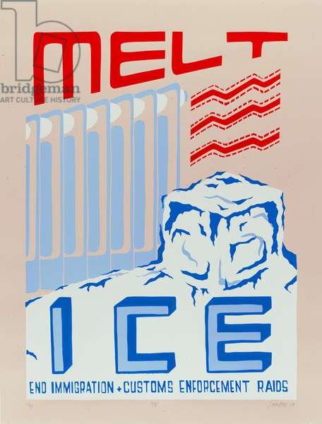 Melt Ice, 2009 (screenprint)