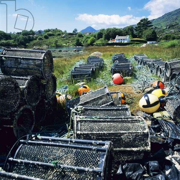 Lobster pots, County Kerry, Ireland (photo)